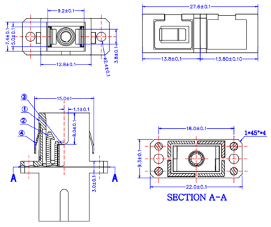 LC Adapter structure diagram