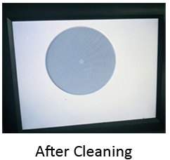 Fiber optic cleaner after cleaning